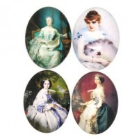 "LOGIN TO VIEW PRICINGOval Dome Beauty Ladies - Mixed40mm x 30mm(1 5/8"" x  1 3/8"") Min. 6 Units - Product Image"