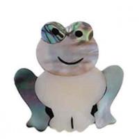 "FrogAbalone, Freshwater ShellBlack Shell & Resin48mm x 53mm(2"" x 2 1/8"") - Product Image"