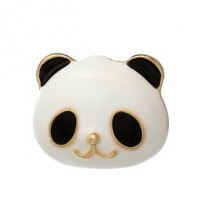 "LOGIN TO VIEW PRICINGPanda FaceBlack/White EnamelGold Plated17mm x 17mm(5/8"" x 5/8"") - Product Image"