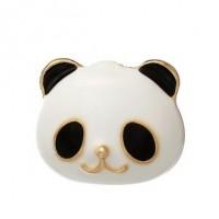 "Panda FaceBlack/White EnamelGold Plated17mm x 17mm(5/8"" x 5/8"") - Product Image"
