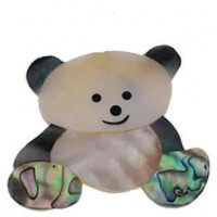 "LOGIN TO VIEW PRICINGTeddybearAbalone, Freshwater ShellBlack Shell & Resin48mm x 49mm(2"" x 2"") - Product Image"