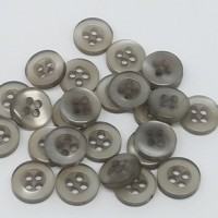 "Resin ButtonSmoke Gray10mm (3/8"") diaMin. 1 Doz. - Product Image"