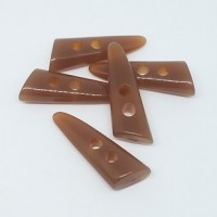 "Resin ToggleHorn Brown41mm x 15mm(1 5/8"" x 1/2"") diaMin. 6 Units - Product Image"