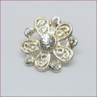 FlowerRhinestone Button22mm dia. - ShankMin. 6 Units - Product Image