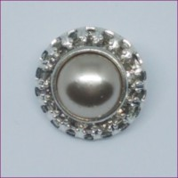 PearlRhinestone Button18mm dia. - ShankMin. 6 Units - Product Image