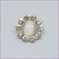 FlowerRhinestone Button16mm dia. - ShankMin. 6 Units - Product Image