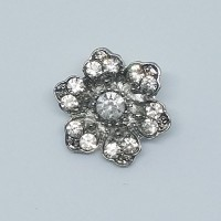 FlowerRhinestone Button18mm dia. - ShankMin. 6 Units - Product Image