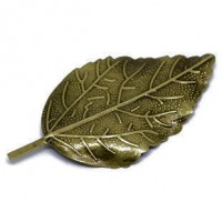 "LeafAlloyAntique Bronze66mm x 33mm2 5/8"" x 1 1/4"" - Product Image"