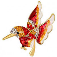 "LOGIN TO VIEW PRICINGHummingbirdRhinestonesEnamel & Alloy40mm x 25mm(1"" x 1 1/2"") - Product Image"