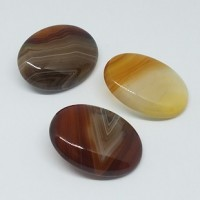 "Stone ButtonDk. Brown/Gray/Yellow30mm x 20mm(1 3/16"" x 3/4"")Min. 6 Units - Product Image"