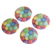 "LOGIN TO VIEW PRICINGSwirlsPainted SwirlsMother of Pearl50mm2"" dia. - Product Image"