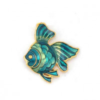 "LOGIN TO VIEW PRICINGAngelfishGod PlatedGreen Enamel23mm x 18mm7/8"" x 3/4"" - Product Image"