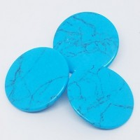 "Resin ButtonTurquoise Composite30mm (1 1/4"") diaMin. 1 Doz. - Product Image"