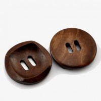 "Wood Button2 Holes30mm (1 1/8"") diaMin. 6 Units - Product Image"
