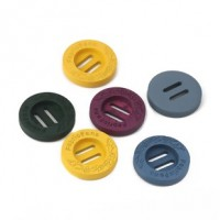 "Wood Button""Fabric Fans""23mm (7/8"") dia.Min. 1 Doz. - Product Image"