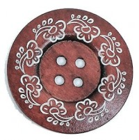 "LOGIN TO VIEW PRICINGWood ButtonFlower60mm (2 3/8"") diaMin. 6 Units - Product Image"