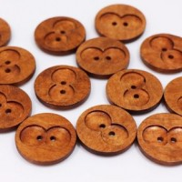"Wood ButtonCutout12mm (1/2"") diaMin. 1 Doz. - Product Image"