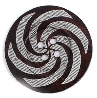 "Wood ButtonSpiral60mm (2 3/8"") diaMin. 6 Units - Product Image"