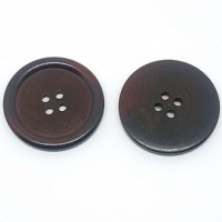 "Wood ButtonDark Brown40mm (1 1/2"") dia.Min.6 Units - Product Image"