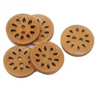 "Wood ButtonFlower23mm (7/8"") dia.Min.1 doz. - Product Image"