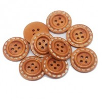 "LOGIN TO VIEW PRICINGWood ButtonStitches-Honey20mm (3/4"") dia.Min.1 doz. - Product Image"