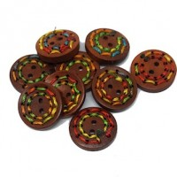 "LOGIN TO VIEW PRICINGWood Buttonwith Threads25mm (1"") dia.Min. 1 Doz. - Product Image"