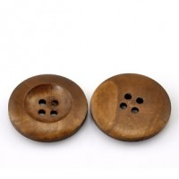 "Wood Button4-Holes round25 mm (1"") diaMin. 1 Doz. - Product Image"
