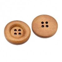 "LOGIN TO VIEW PRICINGWood Button4-Holes23mm (7/8"") dia.Min. 1 Doz. - Product Image"