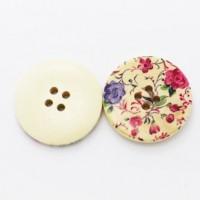"LOGIN TO VIEW PRICINGWood ButtonVintage Style Flower30mm (1 3/16"") diaMin. 6 Units - Product Image"