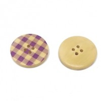 "Wood ButtonChecker30mm (1 3/16"") dia.Min. 6 Units - Product Image"