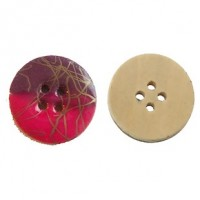 "Wood ButtonPink/Purple Enamel20mm (3/4"") diaMin. 1 Doz. - Product Image"