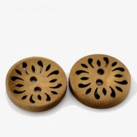 "Wood ButtonFlower Hollow23mm ( 7/8"") DiaMin. 1 doz. - Product Image"