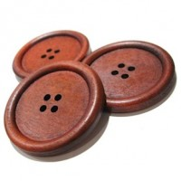 "Wood Button4-Holes40mm (1 5/8"") dia.Min. 6 Units - Product Image"