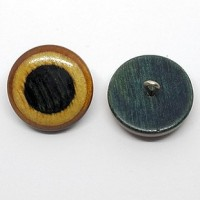 "Wood ButtonHand Carved22mm (7/8"") dia.Min. 6 Units - Product Image"