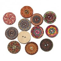 "Wood ButtonMixed20mm (3/4"") dia.Min. 1 Doz. - Product Image"
