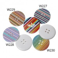"Wood ButtonStripes30mm (1 3/16"") diaMin. 6 Units - Product Image"