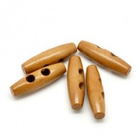 "Wood Toggle Button40mm x 13mm(1 1/2"" x 1/2"")Min. 6 Units - Product Image"