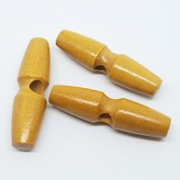 "Wood Toggle Button50mm x 13mm(2"" x 1/2"")Min. 6 Units - Product Image"