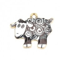 LOGIN TO VIEW PRICINGZinc Alloy EnamelSheep Charm21mm x 17mm Min. 1 doz. - Product Image